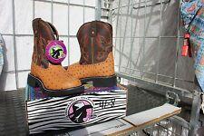 41-11 New Justin Gypsy WOMENS size 7.5B western boots Ostrich pattern