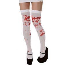 Halloween Sopra Il Ginocchio Zombie Autoreggenti Calze Costume Con Sangue