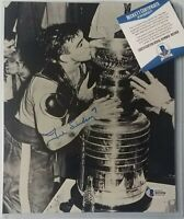 TED LINDSEY SIGNED BECKETT BAS COA AUTOGRAPHED NHL HOCKEY HOF DETROIT RED WINGS