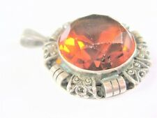 Antique Pendant REAL SILVER WITH CITRINE, 10,94 G