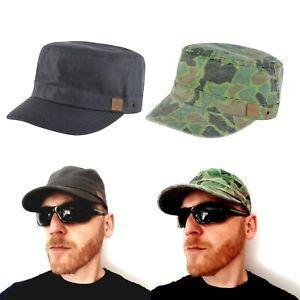 Urban Beach Castro Cuba Grey & Camo Green Military Army Cap Hat One Size Unisex