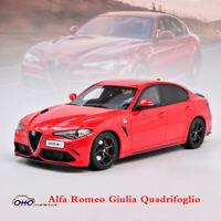OTTOMOBILE 1:18 Diecast Resin Car Model Alfa Romeo Giulia Quadrifoglio Red Limit