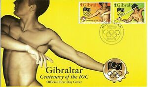 Gibraltar 1994 Centenary of the IOC FDC
