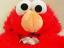 Elmo Sesame Street Furry Red Costume Halloween Vest Hood Infants Toddlers