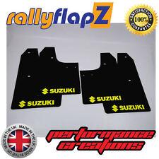 rallyflapZ SUZUKI IGNIS Sport 03-05 Mud Flaps Black Logo Yellow (3mm PVC)