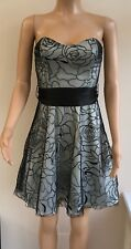 *NEW* RRP £45 Jane Norman Black Cream Silver Cocktail Party Prom Dress Size 10