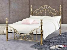 Lavish Florence Brass Effect Bed Frame in King Size 5'ft Delivery