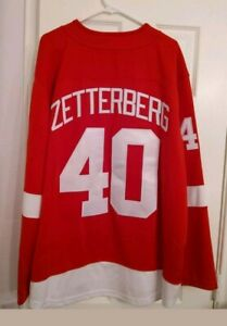 NWT Zetterberg Red Wings jersey size 4XL by FanaticsSEWN LETTERING