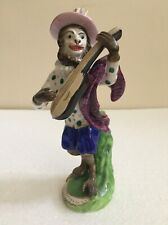 STAFFORDSHIRE PORCELAIN UNUSUAL MONKEY BAND FIGURE PLAYING THE BANJO C1840