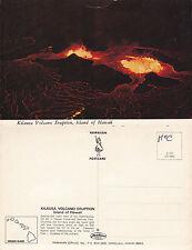 1980's KILAUEA VOLCANO ERUPTION HAWAII UNITED STATES UNUSED COLOUR POSTCARD