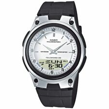 Casio Uhr AW-80-7A Analog Digitaluhr Herren Damen Silber Weiß Watch NEU & OVP