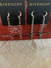 Givenchy Graduated Stone Long Linear Drop Earrings Red Or Blue