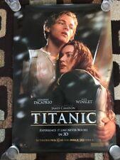 Titanic Original Movie Poster 27X40 DS 2012 3D Re Release Dicaprio Winslet