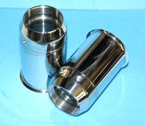 Triumph H3633 97-3633 Pair Fork oil seal holders 1968- stainless steel edelstahl