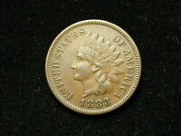 NEW INVENTORY!!  AU 1883 INDIAN HEAD CENT PENNY w/ FULL LIBERTY & DIAMONDS #135s