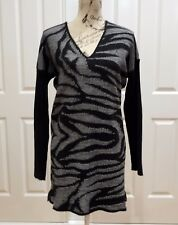 Black and White Zebra Long Jumper Size Large
