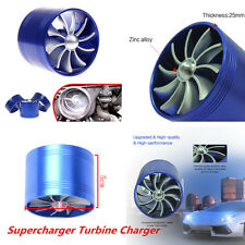 1xCar SUV Single Supercharger Turbo Charger Air Filter Intake Fan Fuel Gas Saver
