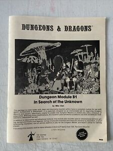 """Dungeons and Dragons B1-9023- """"in search of the unknown"""" module 1979 TSR READ"""