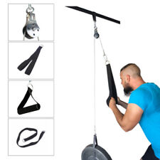 Fitness Pulley Cable Gym Exercise Equipment Machine System Home DIY Lifting Tool