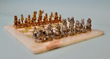 Antique German Christmas Chess Set 19th century