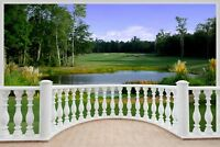 Huge 3D Balcony Golf Fairway Wall Stickers Mural Wallpaper 314