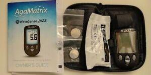 AgaMatrix WaveSense Jazz Blood Glucose Monitoring System/Monitor/Meter BRAND NEW