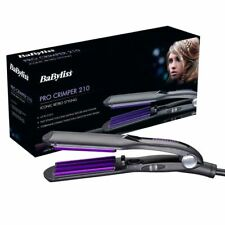 Babyliss 2165 Pro Ceramic Hair Crimping Styling Curling Iron Crimper Styler New