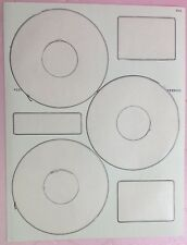 3 Up Blank White Matte CD DVD Labels 100+ Sheets = 300+ Labels NEATO Compatible