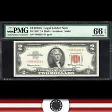1963-A $2 Legal Tender Star Note *RED SEAL* PMG 66 EPQ Fr 1514*  *00826224A