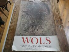 AFFICHE GALERIE ALEXANDRE IOLAS - WOLS ORIGINALE 79X50 PARIS 1970 LITHOGRAPHIE