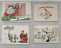 VTG Lot Assorted Various Christmas Cards Santa Seasons Greetings Merry Christmas