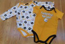 NFL Pittsburgh Steelers Football de una sola pieza L S S de Superdry 6-12 M  meses Bebé Lote De 2 07cc323b638