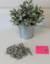 """Metal Swivel Clasp Lobster Claw Spring Closure ~ 1 1/2"""" x 5/8"""" ~ 48 pcs. Silver"""
