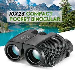 Professional 10X25 Compact Binoculars BAK4 Outdoor Camping Hiking HD Telescope