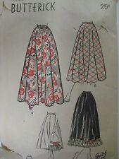 Vtg 30's Butterick 4503 FULL FLARED SKIRT & PETTICOAT Sewing Pattern Women Teen