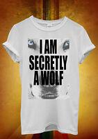 I Am Secretly A Wolf Animal Hipster Men Women Unisex T Shirt Tank Top Vest 546