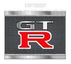 GTR - METAL TEXT LOOK - CARBON MESH LOOK Stickers