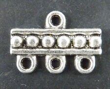 50pcs Tibetan Silver Bar 3-to-1 Connectors 19x13x2mm 102