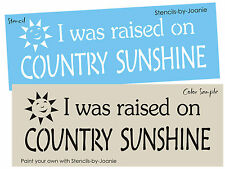 Primitive Porch Stencil Raised Country Sunshine Family Home Decor craft signs