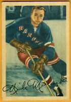 1953-54 Parkhurst hockey card 62 Mickoski, New York Rangers VGEX