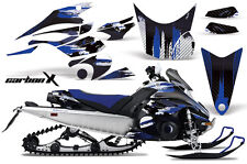 Snowmobile Graphics Kit Decal Sticker Wrap For Yamaha FX Nytro 08-14 CARBONX BLU