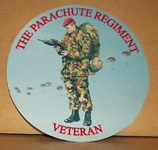 Parachute Regiment (SA80) Veteran vinyl sticker personalised free