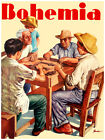 """11x14""""Poster on CANVAS Poster.Room art.Bohemia cover.Playing Domino.6873"""