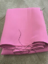 Pale pink soft lined blackout material remnant crafts fabric piece 160x115cm