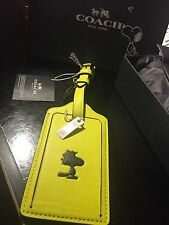 Brand New COACH X PEANUTS Woodstock LUGGAGE TAG Sold Out Kaws