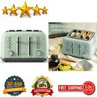 4-Slice Toaster, Extra Wide Slots, Retro Stainless Steel With High Lift Lever