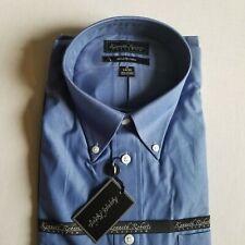 Kenneth Roberts Platinum Mens Blue Button Down Dress Shirt 17 34/35 New