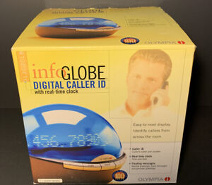 BRAND NEW Olympia Info Globe Digital Caller ID with Real-Time Clock OL3000LB