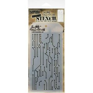 Tim Holtz Layering Stencil ~ CIRCUIT ~ THS146 ~ Stampers Anonymous