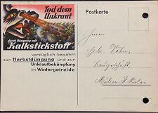 Firmen Werbe Postkarte,Tod dem Unkraut,Kalistickstoff,Mülsen St.Niclas,1938